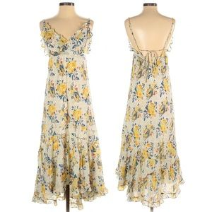 Johnny Was Yellow Field 8 Floral Dress